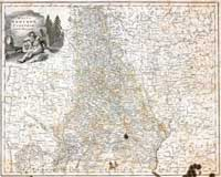 Map of Minsk guberniya, 1800 year