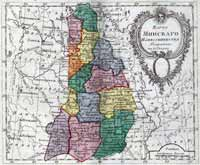 Map of Minsk namistnichestvo, 1796 year