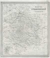 Map of Grodno Governorate, 1871 year