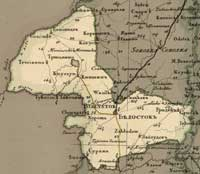 Map of the Belоstok uezd, 1820 year